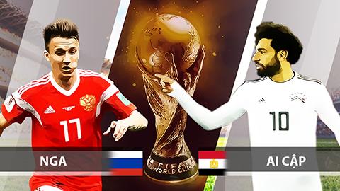 Soi kèo Nga vs Ai Cập, 01h00 ngày 20/6 – World Cup 2018