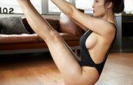 Xịt máu mũi ngắm người đẹp Shan Qi tập yoga