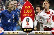 Nhận định Croatia vs Đan Mạch, 01h00 ngày 2/7: Vòng 1/8